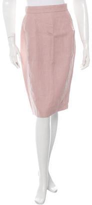 La Perla Linen Pencil Skirt w/ Tags $75 thestylecure.com