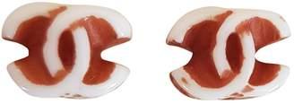 Chanel Brown Steel Earrings