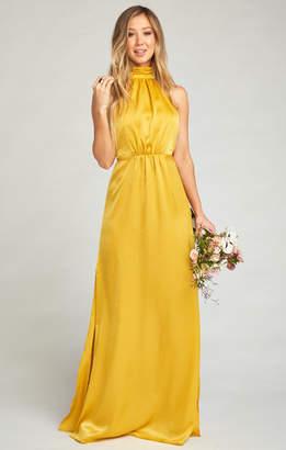 Show Me Your Mumu Collette Collar Dress ~ Honey Gold Sheen