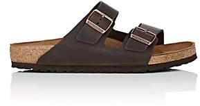 Birkenstock Men's Arizona Oiled Leather Double-Buckle Sandals-Dk. brown