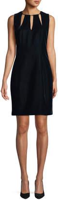 Elie Tahari Jemra Sleeveless Velvet Sheath Dress