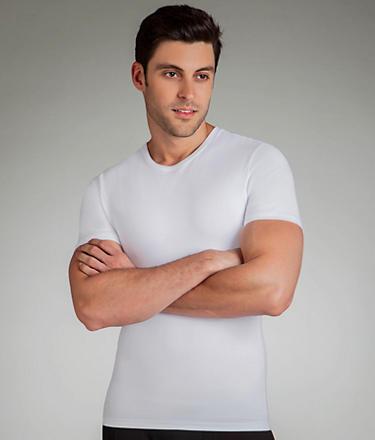 Spanx Cotton Compression Crew Neck T-Shirt