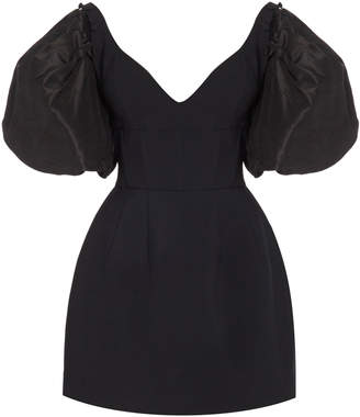Prabal Gurung Puff Sleeve Bustier Mini Dress