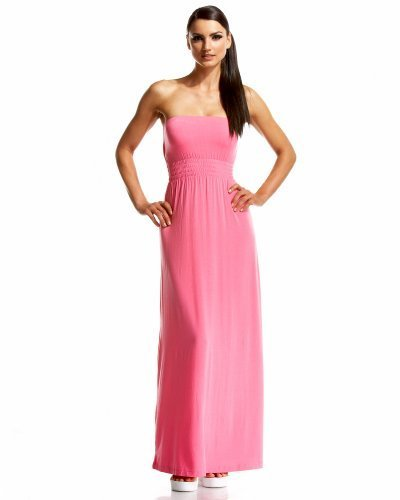 Smocked Waist Strapless Maxi Dress