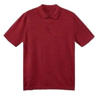 Mango Man MANGO MAN Linen silk-blend polo shirt