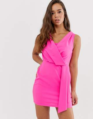 Asos Design DESIGN mini drape front dress