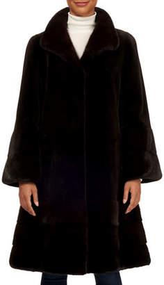 Gorski Reversible Sheared Mink Flare Coat