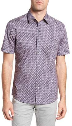 Zachary Prell Brice Trim Fit Scribble Print Sport Shirt