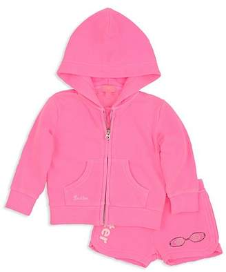 Butter Shoes Girls' Embellished Pool Day Hoodie & Shorts Set - Little Kid