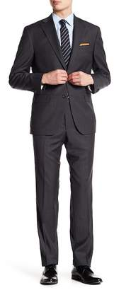 Jack Victor Esprit Grey Woven Wool Two Button Notch Collar Suit