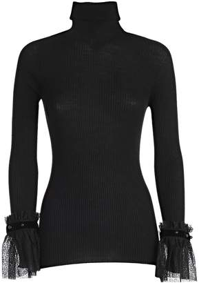 Philosophy di Lorenzo Serafini Philosophy Lace Cuff Sweater