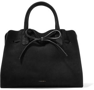 Mansur Gavriel - Sun Leather-trimmed Suede Tote - Black $945 thestylecure.com