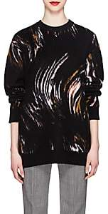 Givenchy Women's Wave-Pattern Wool-Blend Oversized Sweater-Brown