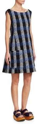Marni Plaid Shift Dress