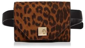 Aqua Medium Leopard-Print Belt Bag - 100% Exclusive