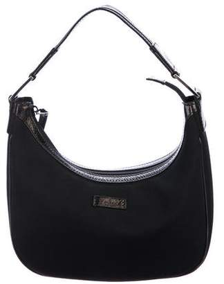 Gucci Leather-Trimmed Hobo