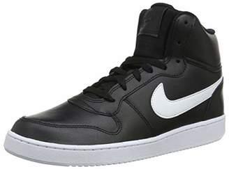 Nike Men's Ebernon Mid Low-Top Sneakers, (Black/White 001)