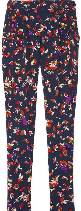 Vanessa Bruno Floral-print silk-crepe pants