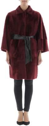 Drome Bordeaux Leather Coat
