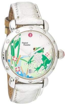 Michele Tropical Paradise Diamond Frog Watch