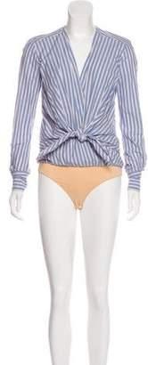 Veronica Beard Diana Striped Bodysuit w/ Tags
