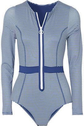 Duskii - Gigi Striped Swimsuit - Blue