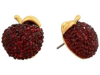 Kate Spade Dashing Beauty Apple Studs Earrings