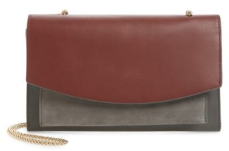 Skagen Eryka Leather Envelope Clutch With Detachable Strap - Grey $185 thestylecure.com