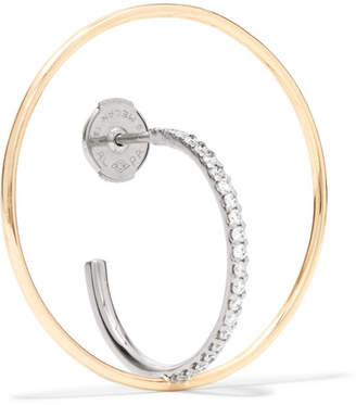 Charlotte Chesnais Saturn 18-karat Gold Diamond Hoop Earring