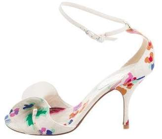 Chanel Floral Ankle Strap Sandals