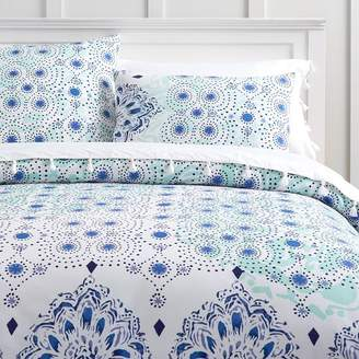 Pottery Barn Teen Kelly Slater Organic Ocean Floral Duvet Cover, Twin/Twin XL, Blue Multi