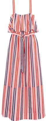 Diane von Furstenberg - Striped Cotton And Silk-blend Maxi Dress - Pastel pink $250 thestylecure.com