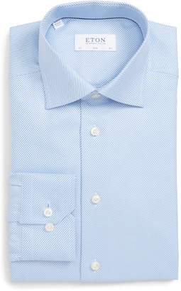 Eton Slim Fit Solid Dress Shirt