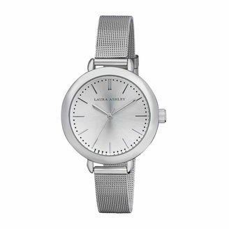 Laura Ashley Mesh Womens Silver Tone Strap Watch-La31026ss $345 thestylecure.com