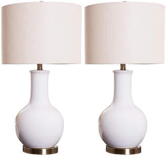 Abbyson Living Shandi Ceramic Table Lamp, Set of 2