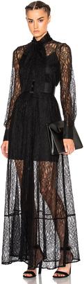 McQ Alexander McQueen Lace Maxi Dress $1,135 thestylecure.com