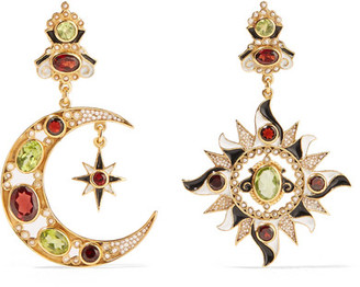 Percossi Papi - Gold-plated Multi-stone Earrings - one size $1,165 thestylecure.com