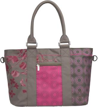 Lassig City Shopper Bag, Olive Colorpatch