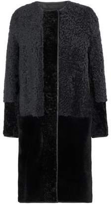 Lanvin Two-Tone Shearling Coat