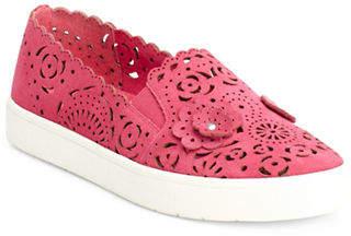 Isaac Mizrahi IMNYC Floral Suede Sneakers