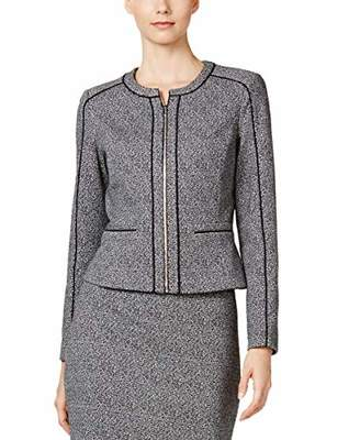 Calvin Klein Women's Marled Jacket with Piping