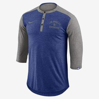 Nike Dri-FIT Henley (MLB Dodgers) Men's 3/4 Sleeve Top