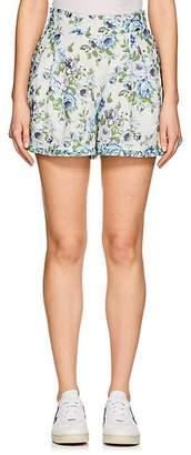 Zimmermann Women's Honeymooners Floral Linen Shorts