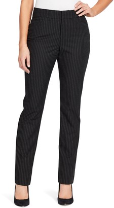 Gloria Vanderbilt Women's Haven Microtech Straight-Leg Dress Pants