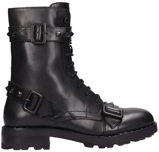 Ash Witch Black Leather Combat Boots