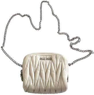 Miu Miu Matelassé leather crossbody bag