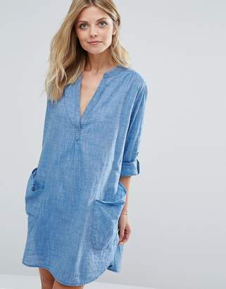 Seafolly Chambray Beach Cover Up $82 thestylecure.com