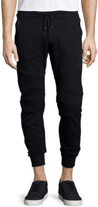 Belstaff Ashdown Tapered Moto Sweatpants, Black