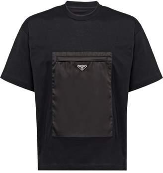 Prada zipped gabardine pocket T-shirt