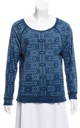 Current/Elliott Printed Long Sleeve Sweatshirt